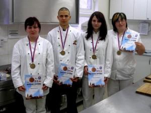 Bronzové družstvo na Gastro Hradec 2011