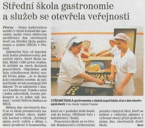 SŠGS se otevřela veřejnosti (Deník, 16. 11. 2012)
