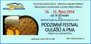 Pozvánka na Festival gulášů a piva 2014