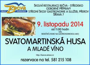 Pozvánka na Svatomartinskou husu 2014