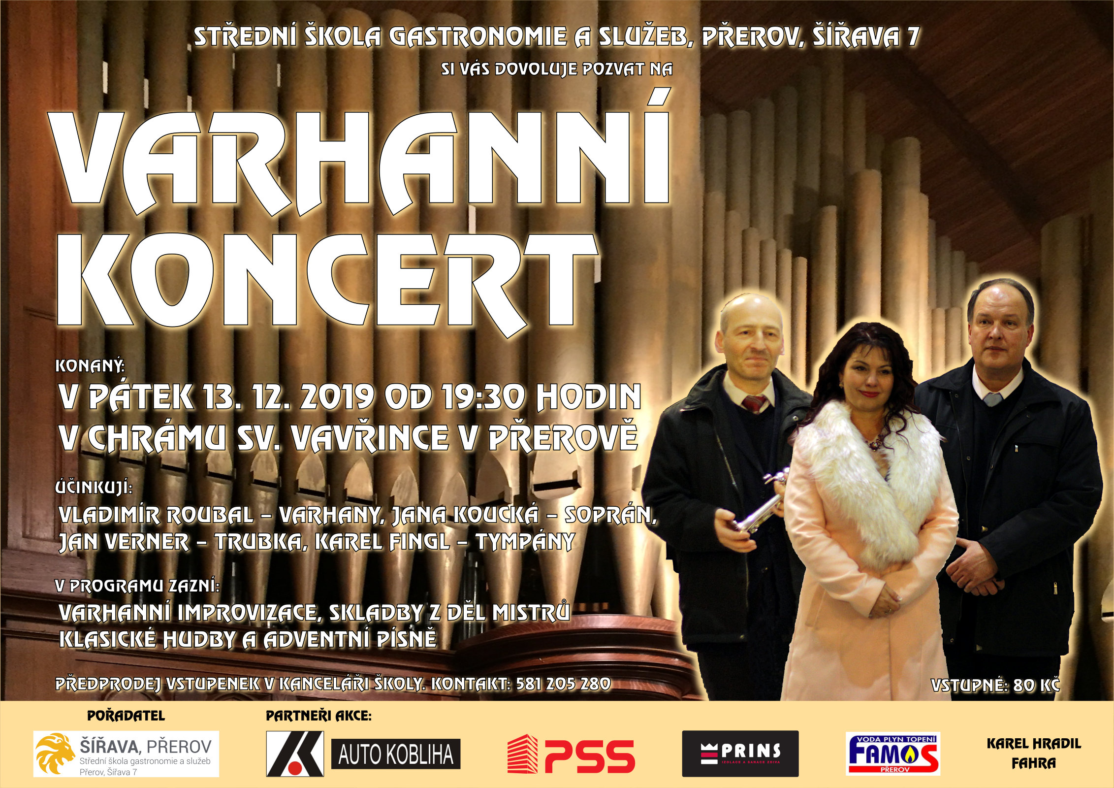 Varhanní koncert 2018