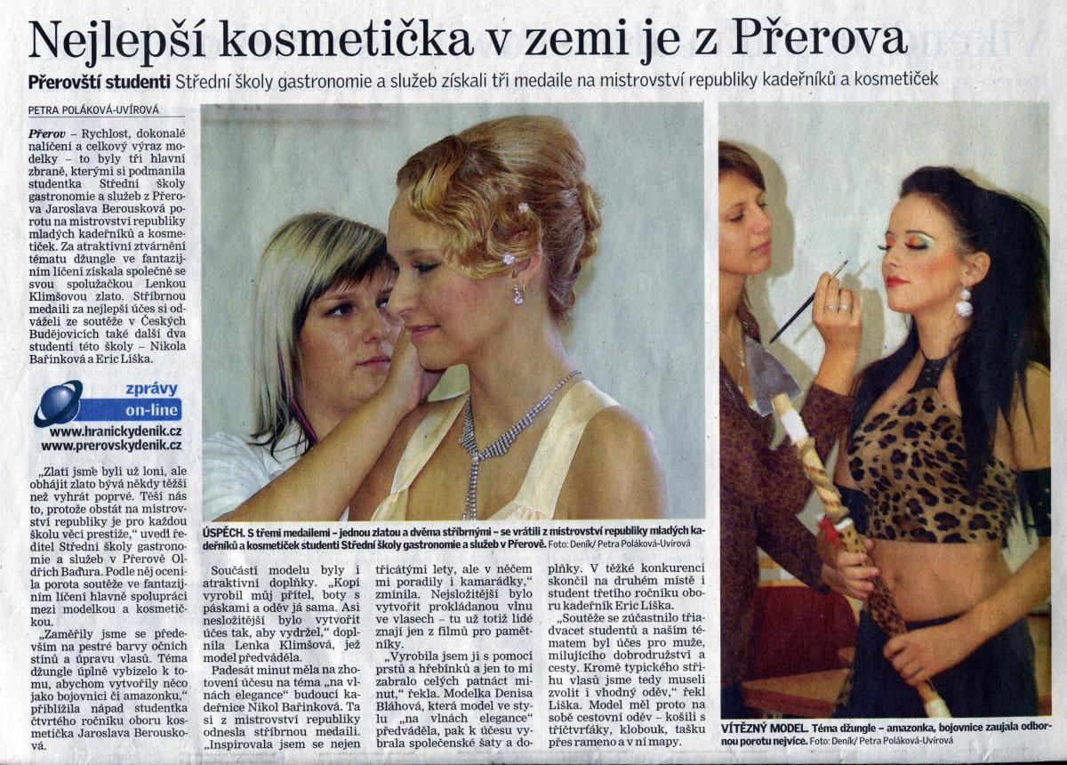 Deník: Nejlepší kosmetička v zemi je z Přerova