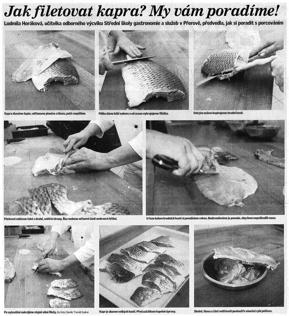 Jak filetovat kapra? My vám poradíme! (Deník, 23. 12. 2010)