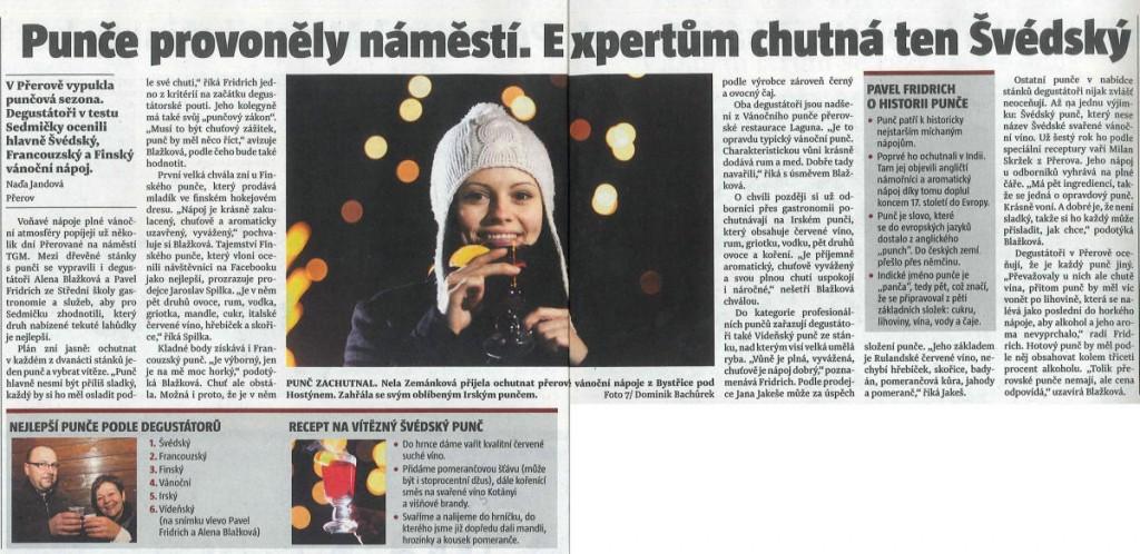 Punče provoněly náměstí. Expertům chutná ten Švédský. (Sedmička, 2. 12. 2010)