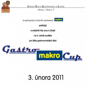 Pozvánka Gastromakro Cup 2011